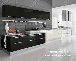 High Gloss Black Kitchen Cabinets Home Design Ideas - Black lacquer kitchen cabinets
