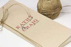 kraft paper wedding programs recycled kraft paper organic twine for eco chic designs