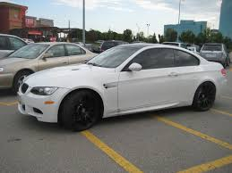 Bmw M3 All Black - white bmw m3 coupe with black hre rims 1 madwhips