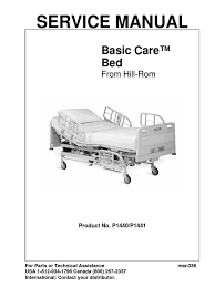 hill rom basic care bed service manual electromagnetic