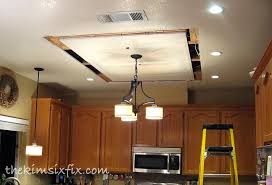Kitchen Fluorescent Lighting Fixtures by Ideal Replace Fluorescent Light Fixture In Kitchen Wallpaper