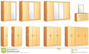 Bedroom Sets With Wardrobe Bedroom Furniture Set Vector Illustration Royalty Free Stock