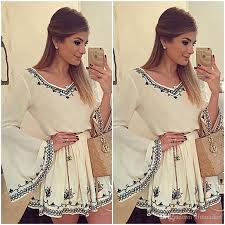 2015 plus size bell sleeve summer dresses for women party