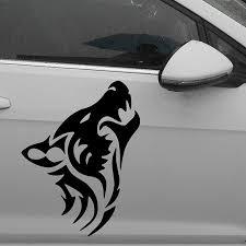 porta kayak per auto lunghezza 50 cm lupo silhouette classic car sticker per auto lato