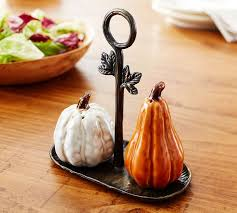 gourd salt pepper shakers pottery barn