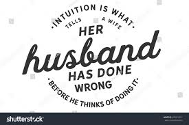 quotes intuition logic intuition what tells wife her husband stock vector 637614751