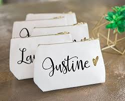 bridal makeup bag personalized makeup bag gift for bridesmaids canvas
