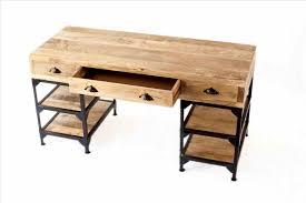 bureau bois noir bureau bois metal pics of et bureau bois metal noir blanc