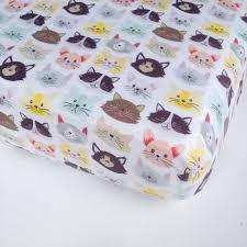 Kitten Bedding Set Baby Bedding Kittens Crib Sheet Standard Or By Babiease