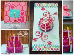 01 sizzix pop up die projects pink birthday cake card