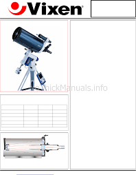 vixen vc200l telescope user manual download as pdf