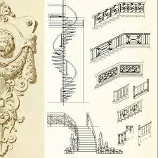 ornamental stair parts balusters iron stair railing wrought iron