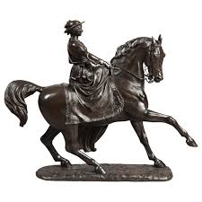 Horse Statues For Home Decor 19th Century Bronze Equestrian Statue Of The Young Queen Victoria