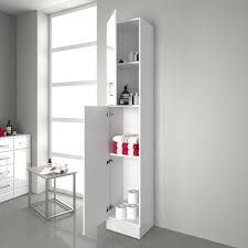 ibathuk tall gloss white bathroom cupboard reversible storage