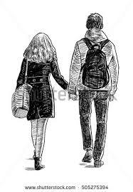 students couple on walk stock illustration 505275394 shutterstock