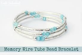 bracelet cord beads images Memory wire tube diy bracelet jpg