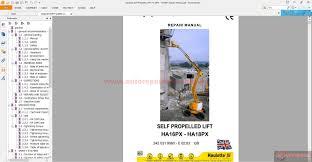 haulotte self propelled lift ha16px ha18px repair manual auto