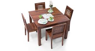 4 seater dining table with bench brighton square capra 4 seater dining table set urban ladder