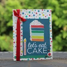 cake happy birthday handmade greeting card generic birthday card