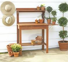 Outdoor Potters Bench Outdoor Potting Bench Treenovation