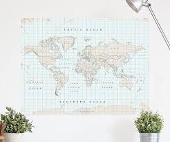 vintage corkboard world map xl the chart u0026 map shop