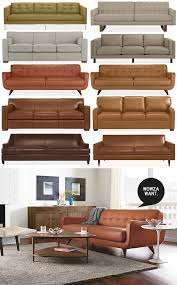 Leather Sofa Shops Room And Board Leather Sofa Best Images About Sofas On