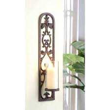 Gold Wall Sconce Candle Holder Metal Wall Sconces Wrought Iron Wall Decor This Pair Of Iron Wall