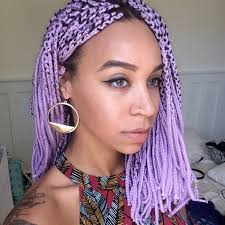 grey and purple combined together style box breads 20 aristocratic purple grey box braid styles hairstylec