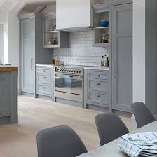 Grey Shaker Kitchen Cabinets Grey Shaker Style Kitchen With Range Cooker Shaker Style
