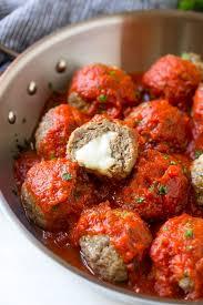 cuisine appetizer mozzarella stuffed meatballs the recipe critic
