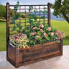 flower box with trellis garden u0026 planters brylanehome