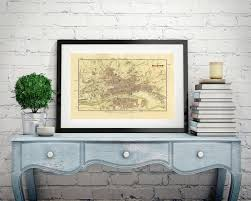 Canvas Map Of The World by Map Of Glasgow Scotland Old Map Wall Map Scotland Antique Map