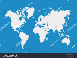 World Map Sweden by Blank White Simillar World Map Isolated Stock Vector 400503175