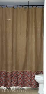 Burlap Shower Curtains Burlap Shower Curtain With Grommets Shower Curtains Design