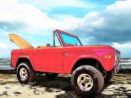 beach jeep surf surf bronco 4 wheel drive only padre island texas low tide