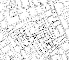 Snow Map John Snow London Cholera Map 1854 Projective Mapping