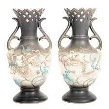 Japanese Dragon Vase Vintage Decorative Vases Urns And Flower Pots Auction In