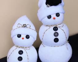 Diy Sock Snowman Sock Snowman Etsy