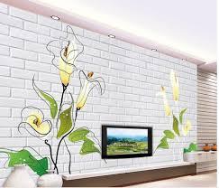 online get cheap tulip mural aliexpress com alibaba group decorative brick wall tulip 3d wall murals wallpaper custom 3d photo wallpaper customized wallpaper for walls