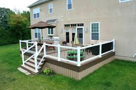 plain ideas white deck railing magnificent how do you attach a of