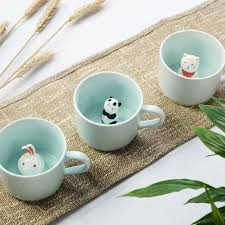 animal cup morning mug gwyl io