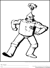 wizard of oz coloring pages tin man coloring pages pinterest