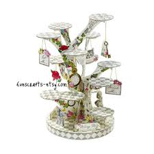 alice and wonderland home decor alice in wonderland cupcake stand alice cake stand mad