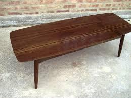 Surfboard Coffee Table Coffee Table Vintage Teak Surfboard Coffee Table Mid Century
