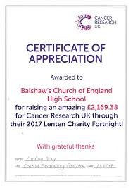 charity work and fundraising balshaw u0027s church of england high