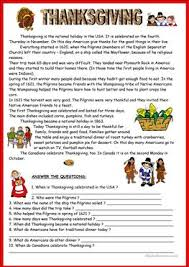 free thanksgiving reading comprehension worksheets checks worksheet