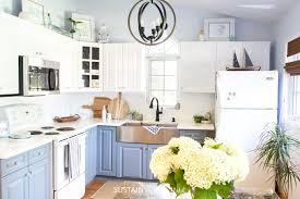 how to paint kitchen cabinets farmhouse style coastal cottage kitchen design graystone kitchen