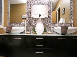 mirrored bathroom vanities hgtv