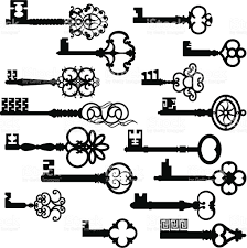 ancient key set silhouettes stock vector 165792216 istock