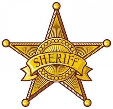 western clipart sheriff badge pencil and in color western